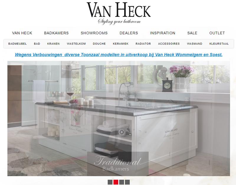 Van Heck Badkamers   BizzView Ecommerce
