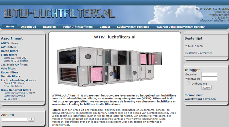 wtw luchtfilters